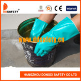 Ddsafety 2017 Europe Standard Green Nitrile Chemical Industrial Gloves