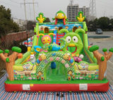 on Stock Inflatable Jumping Bouncy Bouncer Combo Castle for Kids on Playground