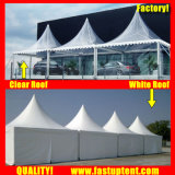 Clear Tent Transparent High Peak Gazebo Tent for 30 People Seater Guest