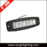 Offroad 6 Inch 30W Oval CREE 4X4wd LED Car Work Light with Flush Mount