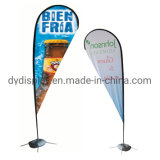 Outdoor Advertising Display Fiberglass Flag Pole Feather Flag Polyester Street Banner