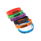 Factory Quality Cheap Custom Printed Logo Sports Silicone Slap Silicone Bracelet Rubber Wristband for Promotional Gift No Minimum (YB-SW-212)