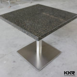 800X800mm Square Restaurant Furniture Black Dining Table