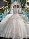 Royal Wedding Dress/Luxious Cathedral Train Bridal Gown/2017 Trendy Bride