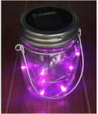 Solar Powered Glass Jar with Copper-Wire Designed