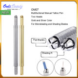 Newest Golden Microblading Tools Manual Tattoo Pen Double Head Microblading