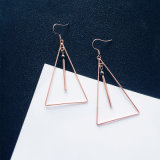Fashion Girl Simple Geometric Figure Stainless Steel Women Earrings