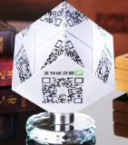 Wholesale Blank Glass Desk Holder Decoration Alipay and Wechat Check-out 2D Barcode Gift Cash Register Glass Craft Cashier Cheap Qr Code 3D Crystal