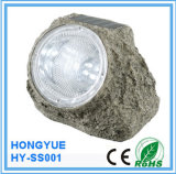 High Quality Solar Stone Light Hongyue Item Resin Solar Rock Light Solar Stone Spot Light