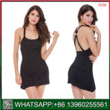 New Arrival China Factory Wholesale Black Women Nightgown