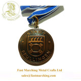 Custom Shaped Round Germany Brass Lapel Pin Metal Sports Medals
