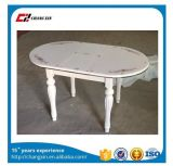 Wooden Extend Dining Table with Glass Top