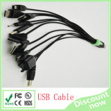 10 in 1 USB Cable Green in Black