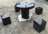 Black Granite Table and Desk for Garden