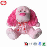 Pink Fluffy Sitting Cute Dog Stuffed Valentines Puppy Plush Toy