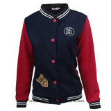 Women's Ladies Baseball Outer Fit Sports Bomber Jackets