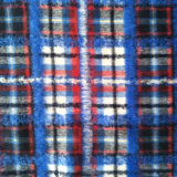 Fine Blue and Red Checked Wool Fabric with Mohair and Alpaca for Garment Fabric Apparel Fabric Clothing