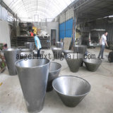 Exterior Square Plaza Corrosion Resistant Stainless Steel Art Plant Garden Pot Satin Finish