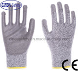 Anti-Cut 5 PU Palm Coated Safety Work Gloves