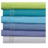 Polyester Microfiber Solid Color Simple Embroidery Bed Sheets