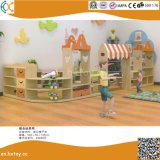 2018 Latest Kindergarten Wooden Toy Shelf for Kids