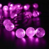 30 LED Solar Outdoor Garden Lamps Water Drop Fairy String Lights High Power