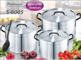Thicker Side Aluminum Pot Jp-Al03h Pot Set