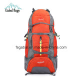 Outdoor Nylon Material External Frame Type Camping Hiking Bag Backpack