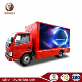 Cheap Small P10 Lights 3 Sides LED Mobile Advertising Truck with Step Ladder