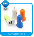 Factory Supply Double USB Ports Car Charger for Phone