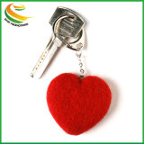 National Popular Custom Logo on Assorted Colors Felt Keychain Keyring