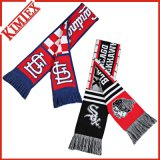 100% Acrylic Knitted Gameday Giveaway Scarf, Jacquard Fans Soccer Football Scarf