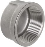SS304 Stainless Steel Pipe End Threaded Screw Caps Dn32