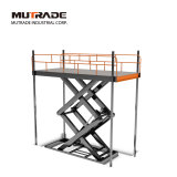 Double Cylinder Two Car Scissor Elevator Hydraulic Car Lift Table