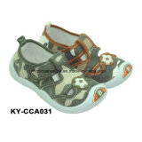 Fashion Child Casual Canvas Shoe with Injection Sole
