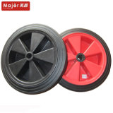 Wholesale Black Colour High Load Solid Rubber Powder Wheel 14 Inch Special Vehicle Wheel