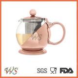 Wschmy044 Rose Gold Color Tea Pot