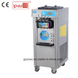 Prince Factory Sale Commercial Stainless Steel Three Flavors Soft Ice Cream Machine with Cone Dispenser