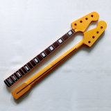 4 String Canadian Maple Jazz Bass Neck with Rosewood Fingerboard