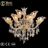 2017 Newest Design Amber Crystal Chandelier Light