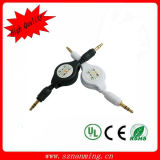 Gold Plated 3.5mm Retractable Audio Cable