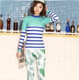 Korea style Hot Sale Lycra Lady′s Swimwear &Printed Diving Suit