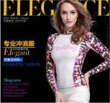 Quick-Drying Lady′s Long Sleeve Swimwear&Dial Printed Diving Suit