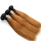 Brazilian Remy Hair Products Two Tone Human Hair Weaving