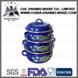 Factory Wholesale Full Color Customized Logo Printing Enamel Casserole Set