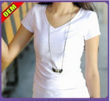 Fashion Sexy Cotton Printed T-Shirt for Women (W300)