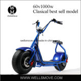 60V 1000W Fat Wheel Tire Seev Woqu Harley Citycoco Motor Scooter Electric