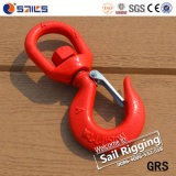 Rigging Red Painted Safety Latch S322 Swivel Hook