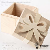 Hongdao Natural Color Engrave Logo Wooden Packaging Storage Box for Gift Price _E