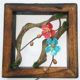 Handmade Dried Flower Hanging Wood Frame Wall Decoration